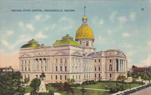 Indiana Indianapolis State Capitol Building 1941