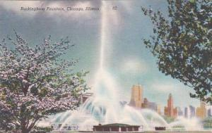 Illinois Chicago Buckingham Fountain 1955