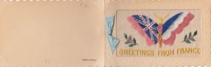 WAR 1914-18 ; Flags of Allies Butterflyr ; Embroidered
