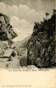 NH - Crawford Notch. The Great Cut Gateway (Maine Central Railroad)