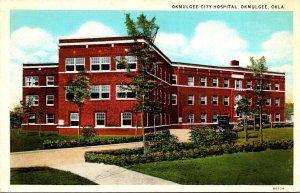 Oklahoma Okmulgee City Hospital Curteich