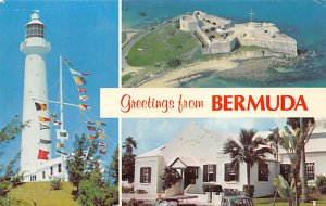 Bermuda Post card Old Vintage Antique Postcard Gibbs Hill Lighthouse, Fort St...