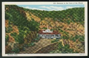 Manitou CO Entrance to the Cave of the Wind Vintage Sanborn Postcard