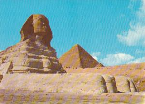 Egypt Giza The Sphinx and The Pyramid Of Cheops