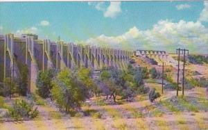 Texas Buchanan Dam Down Stream View