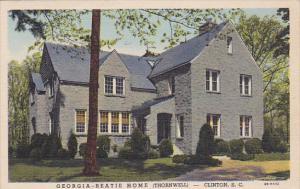 Georgia-Beatie Home (Thornwell), CLINTON, South Carolina, PU-1951