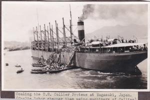 Photo ; NAGASAKI , Japan , 00-10s ; U.S. Collier PROTEUS in harbor