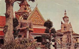 Bangkok Thailand~Temple of Dawn~Japan Air Lines~Hong Kong PM 1958~Postcard