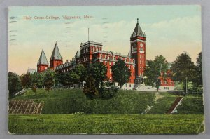Holy Cross College, Worcester, MA 1916 Postcard (#6093)