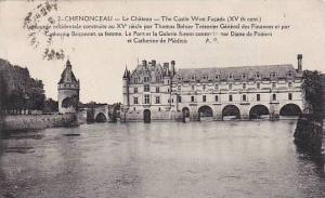 France Chenonceaux Le Chateau West Facade 1929