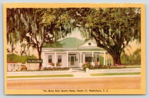 Walterboro South Carolina~Betsy Ross Guest Home~Route 17~1940s Roadside