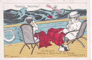 Yacht Racing Comic ; Off Newport Watching a Heavy Swell for Durkee , 00-10s
