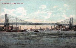 Williamsburg Bridge, New York, N.Y.,  Early Postcard, Unused