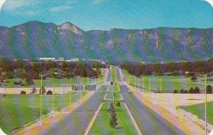 Colorado Springs North Entrance Drive Of The United States Air Force Academy