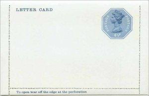 Entier Postal Stationery Postal Britain Great Britain 4 1 / 2p Machin