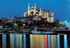 Spain Mallorca (Baleares) Espana Palma vista nocturna de la Catedral