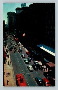 Atlanta GA- Georgia, Peach Tree St and State Capital, Vintage Chrome Postcard