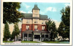 Gloversville, New York Postcard Getman Memorial or Old Ladies Home c1910s