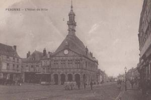 Peronne Hotel De Ville Antique French Postcard