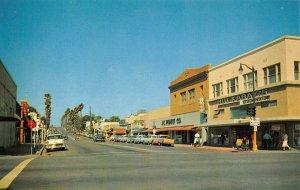 OCEANSIDE, CA Street Scene Hwy 101 San Diego County c1950s Vintage Postcard