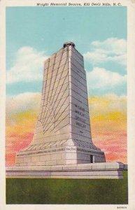 North Carolina Kill Devil Hills Wright Memorial Beacon 1951 Albertype