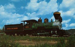 Denver & Rio Grande Railroad - Locomotive #315