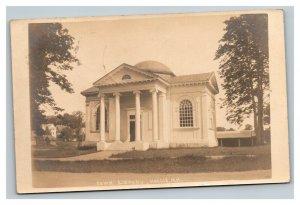 Vintage 1910 RPPC Postcard Town Library Hollis New Hampshire