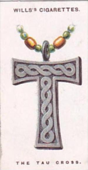Wills Cigarette Card Lucky Charms No 25 The Tau or St Anthony's Cross