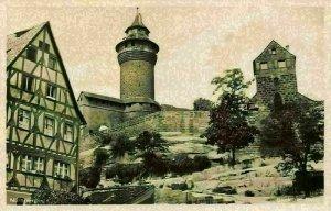 Nurnberg Castle Tower Turm Postcard