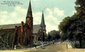 Sacred Heart & Baptist Churches - Sharon, Pennsylvania