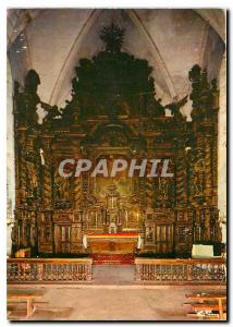 Postcard Modern Correze Naves Altarpiece of the church Overview