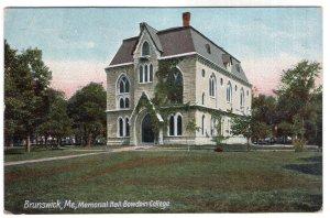 Brunswick, Me, Memorial Hall, Bowdoin College