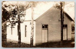 Blue Creek Ohio~Cedar Mills Community Church~built 1897~Hwy 348~c1910 RPPC