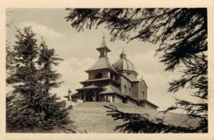 Czech Republic Beskydy kaple na Radhosti RPPC 02.26