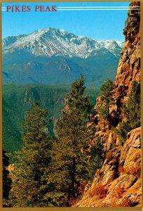 Colorado Pikes Peak From The Rampart Range