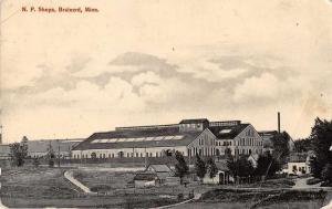 Brainerd Minnesota NP Shops Birds Eye View Vintage Postcard JD933479