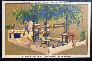 Mint USA Advertising Postcard Globe Flour Food Building San Diego Exposition