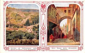 Israel Old Vintage Antique Post Card Garden of Gethsemane in Jerusalem Ecco H...
