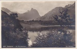 RP, ROMSDALEN, Norway, 1920-1940s; Partial Scene, Mot Romsdalshorn