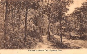 Entrance to Morton Park Plymouth, Massachusetts Postcard