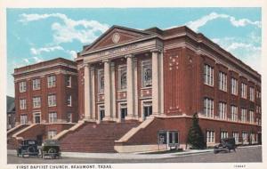 Texas Beaumont First Baptist Church Curteich