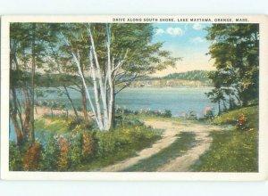 W-border LAKE SCENE Orange - Near Amherst & Worcester Massachusetts MA AE4794