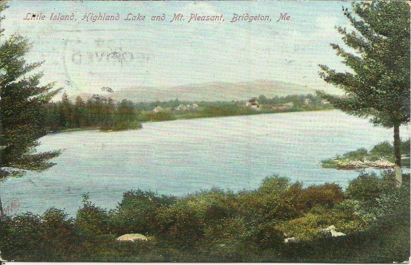 Little Island, Highland Lake And Mount Pleasant, Bridgeton, Maine
