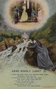 Bamforth Woman and Angel Lead Kindly Light No 2