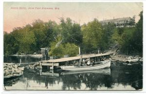 Boat Dock Hords Hotel Fort Atkinson Wisconsin 1910c postcard