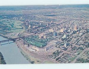 Pre-1980 AERIAL VIEW OF TOWN Edmonton Alberta AB F9155