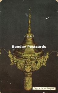 birma burma, RANGOON, Pagoda Hti (1913) Stamp, Ahuja No. 271