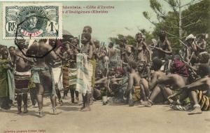 CPA Senegal Ethnic Nude Fortier - Cote d'Ivorie, Ebriés (71132)