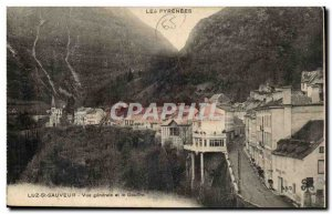 Old Postcard Luz Saint Sauveur General view and the gulf