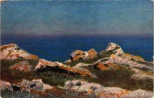CPA AK G.O. KALMYKOFF Vue sur la mer infinie. Modern Russian Painters (286740)